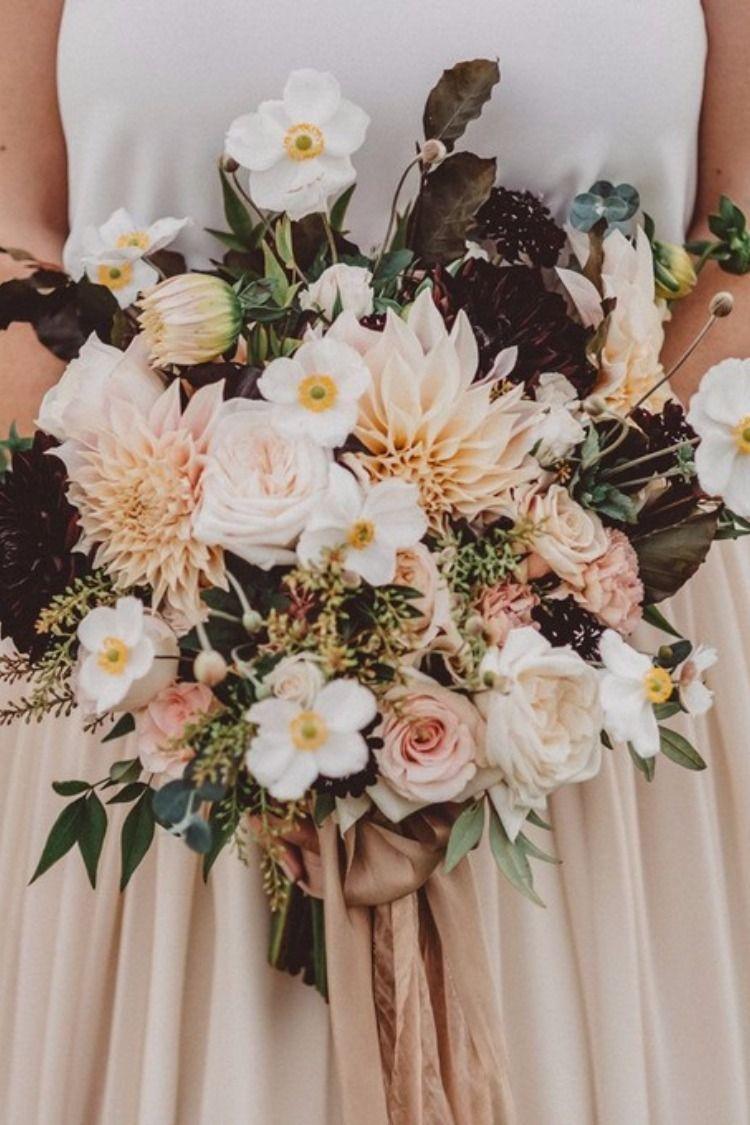 25 Dahlia Wedding Bouquet Ideas For Wedding Flower Trends 2019 Hochzeitsgestecke Dahlienstrauss Herbstliche Hochzeitsblumen