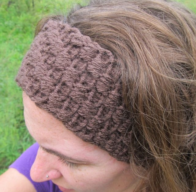 Loom Knit Headbandear Warmer With Bumps From This Mama Knits
