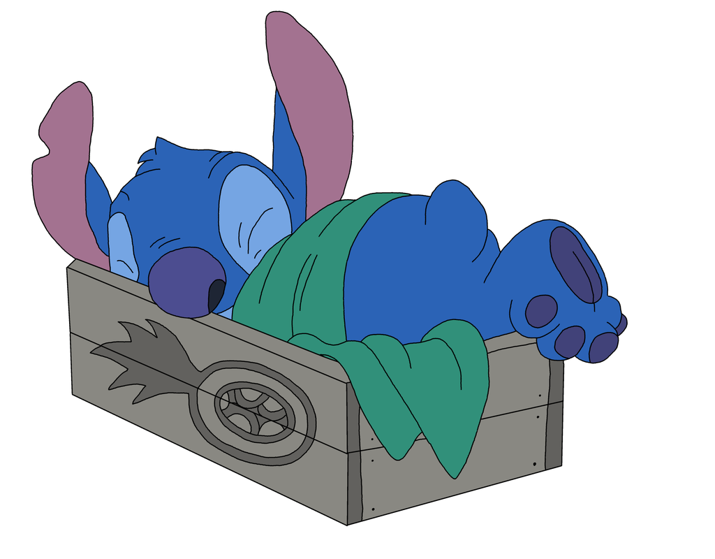 Stitch Sleeping By Guilmonking Dh72wg Png 1024 800