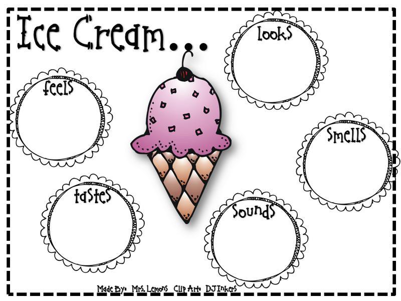 ice cream writing activity ice cream sundae classroom ideas descriptive writing activities. Black Bedroom Furniture Sets. Home Design Ideas