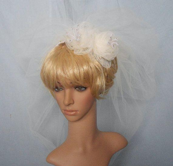 Vintage Alencon Lace and Pearls Bridal Headpiece