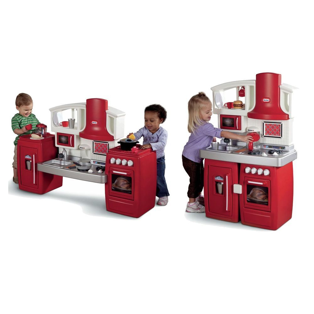 Kitchen Playset For Girls and Boys Pretend Play Toy Cooking Set ...