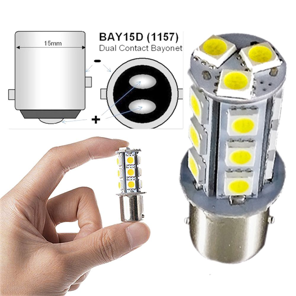 1157 Reverse Led Light Bulb Muhize Super Bright 6000k White 5050 18smd Upgrade Version Dc 12v Replacement Bay15d 1016 1034 Bulb For Stop Tail Brake Backup