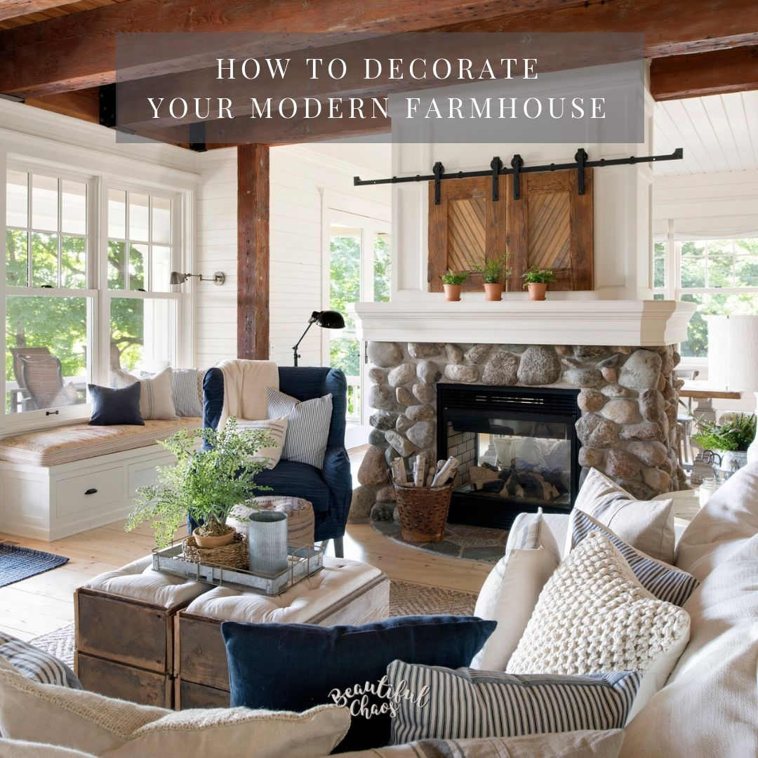 Decorate Modern Farmhouse Style Living room sectional