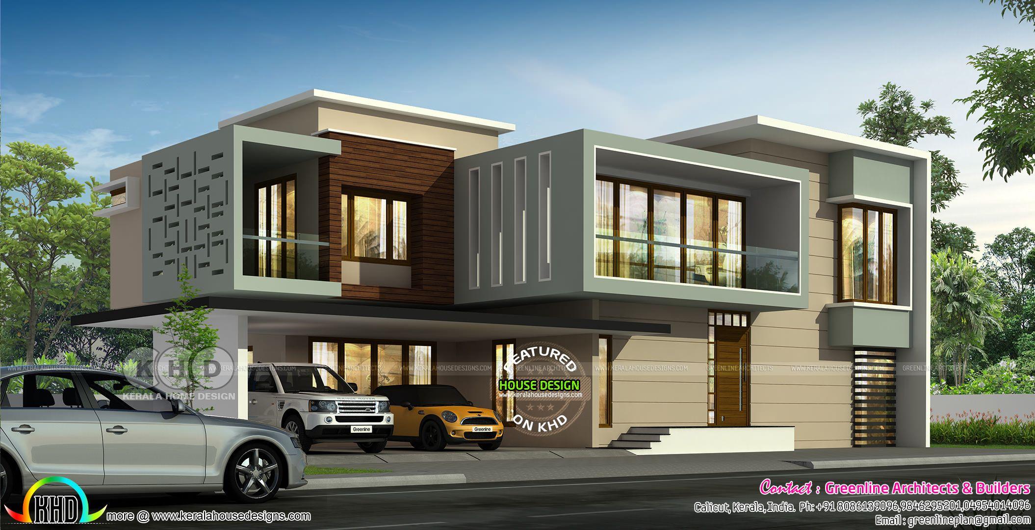 Ultra modern 4 bedroom 4472 sq-ft house | Modern house ...
