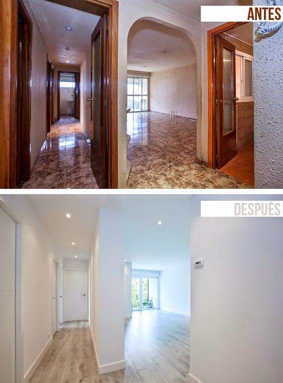 Decoraci n de interiores antes y despu s reforma integral - Reformas pisos pequenos ...