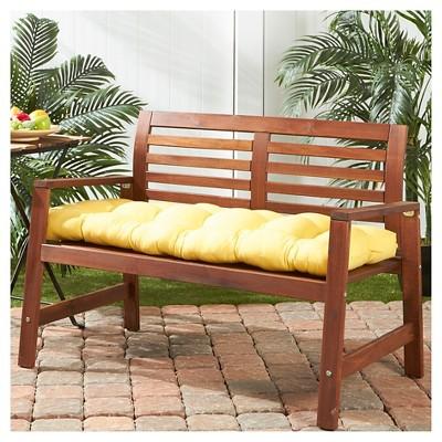 Solid Outdoor Bench Cushion Sunbeam Kensington Garden Porch