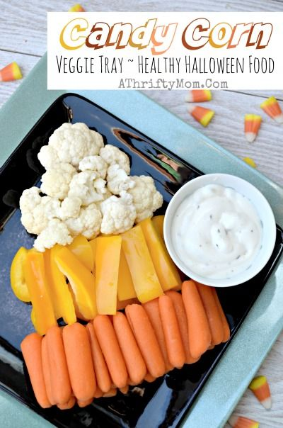 Healthy Halloween treat ideas, Candy Corn Veggie Tray, Healthy but