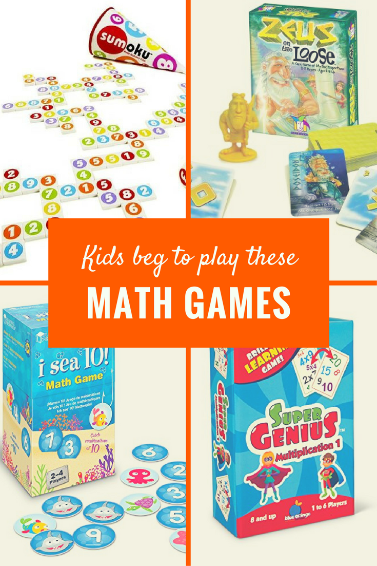 Fun Math - Best Math Board Games that Kids Love | Math board games ...