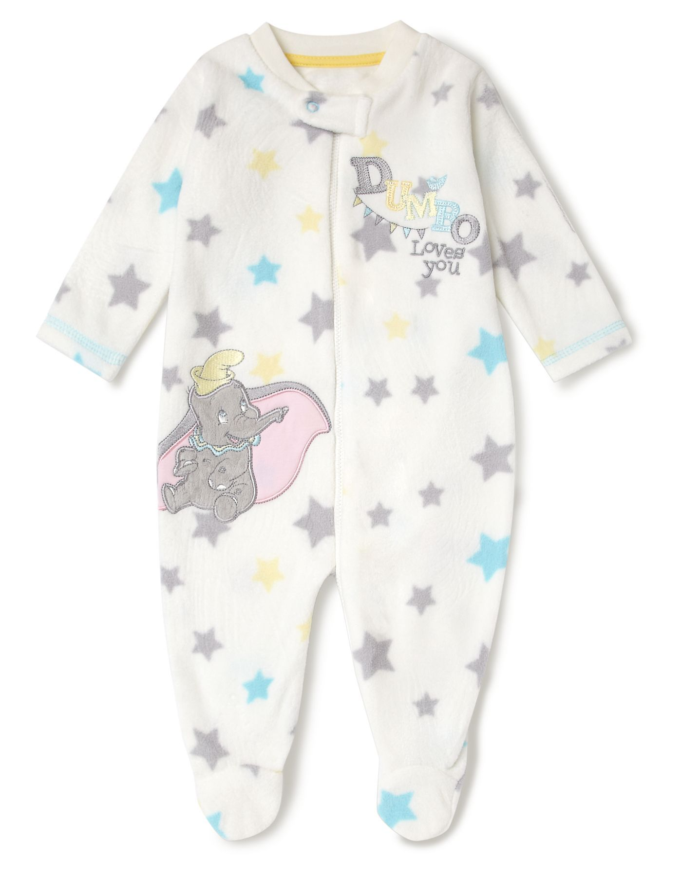 e4956bd49 Dumbo Fleece Baby Sleepsuit
