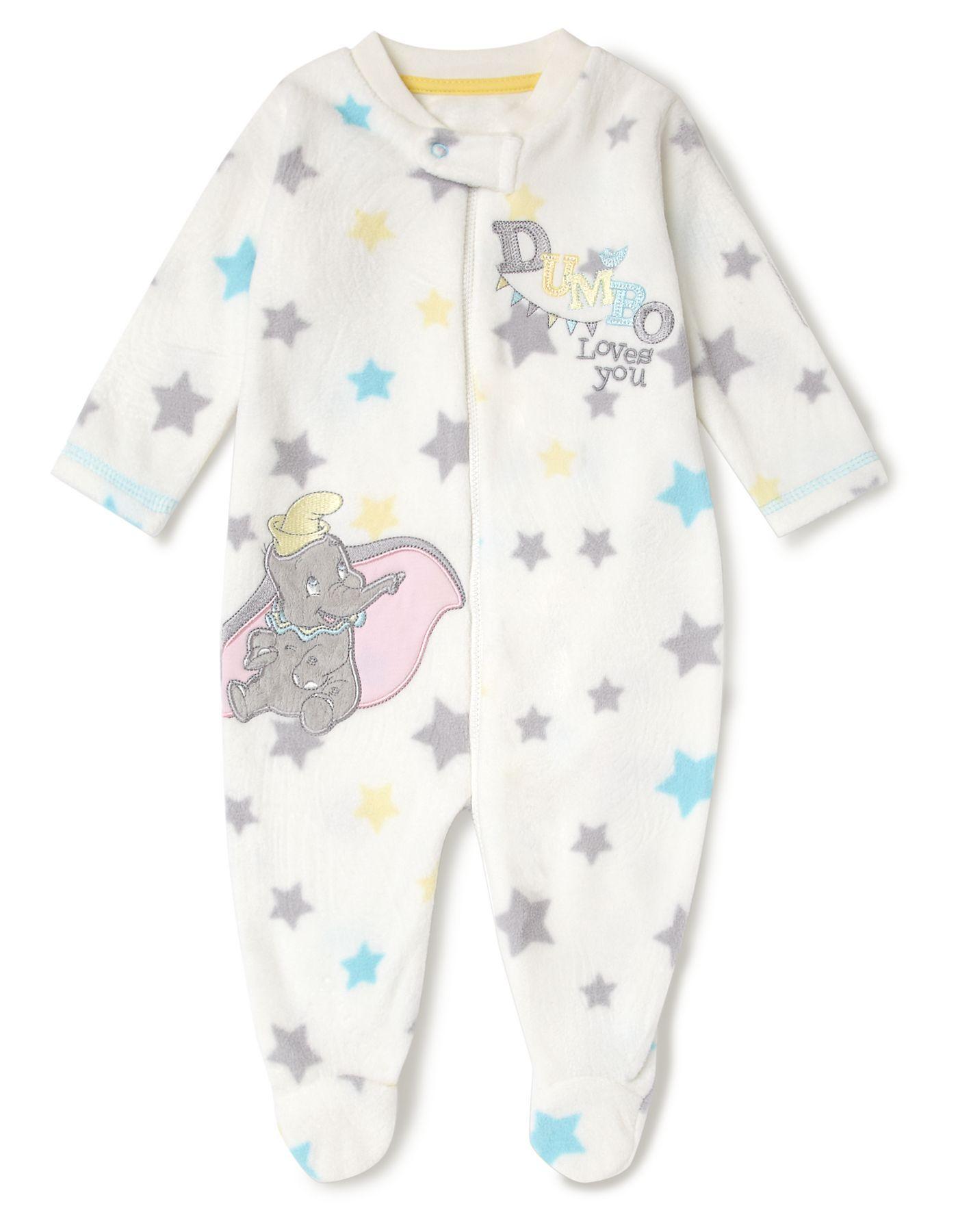 Dumbo Fleece Baby Sleepsuit Baby George at ASDA