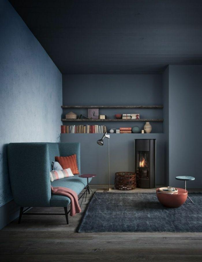 le gris anthracite en 45 photos d interieur salle de sejour pinterest salon deco salon and gris