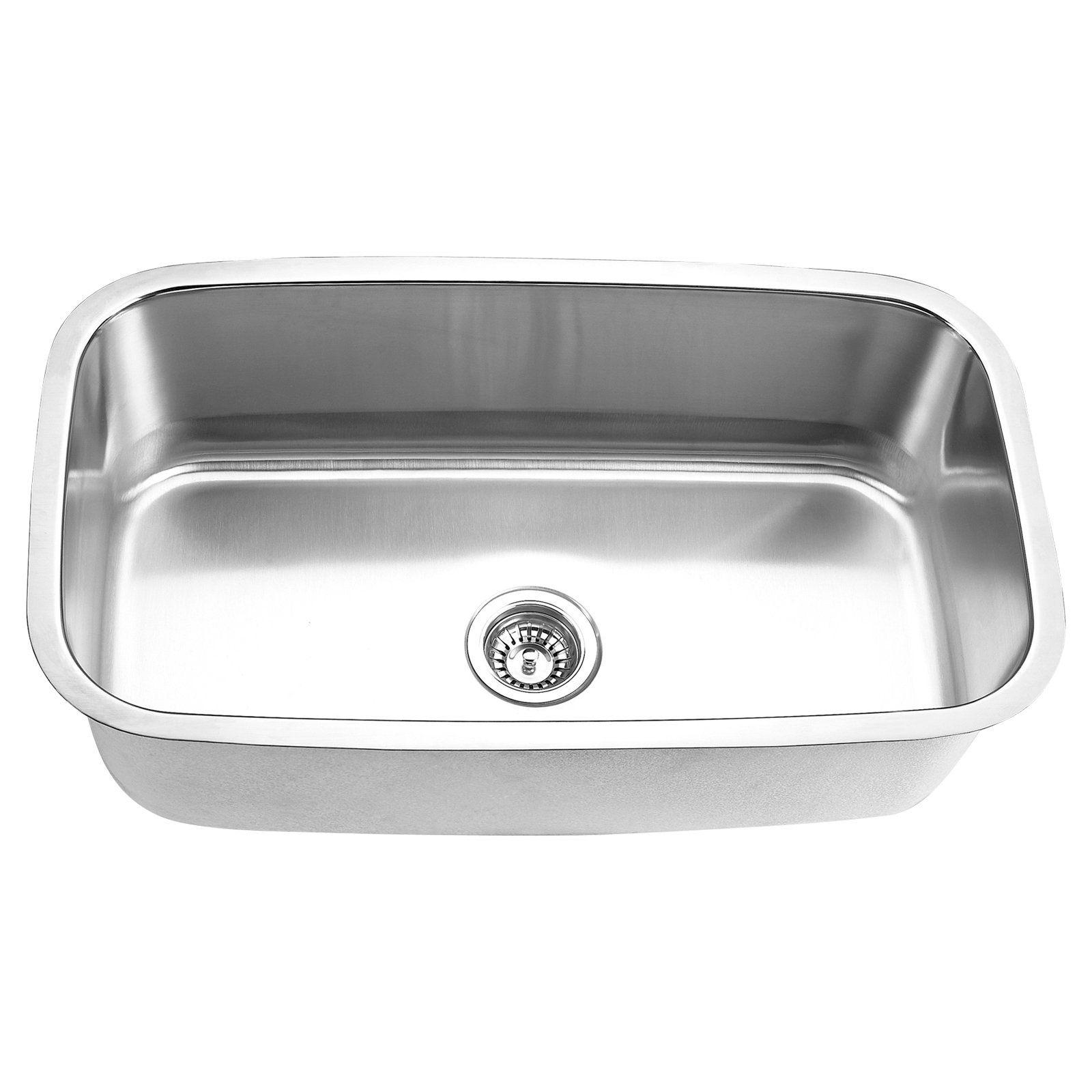 Kraus Standart Pro 33 In X 22 In Stainless Steel Single Basin Drop