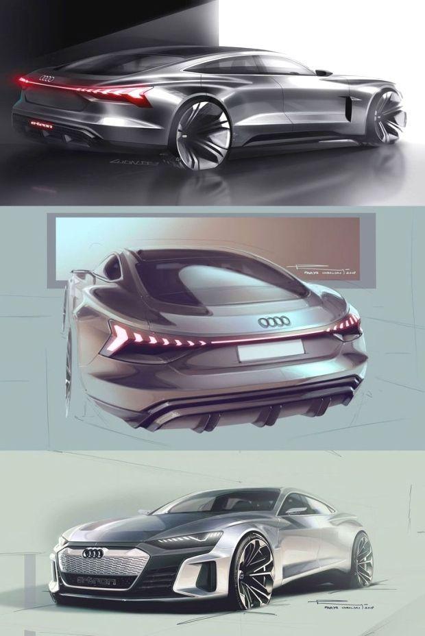 Audi e-tron GT concept: design sketches - Audi Photo : Audi e-tron GT concept: design sketches -  -