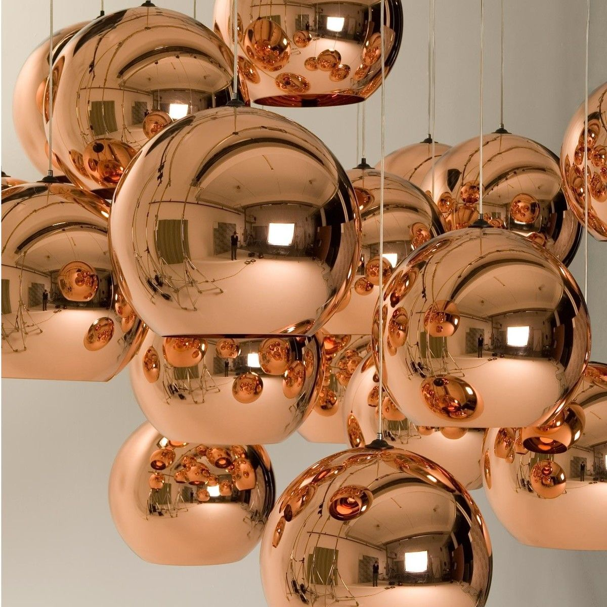 Copper Shade Suspension Lamp Tom Dixon Tom Dixon Lighting Copper Lighting Copper Lamps