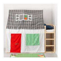 tente pour lit avec rideau kura gris blanc chambre enfant. Black Bedroom Furniture Sets. Home Design Ideas