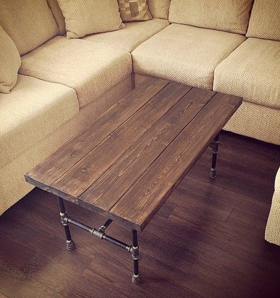 Enjoyable This Hand Crafted Cedar And Pipe Coffee Table Is A Great Machost Co Dining Chair Design Ideas Machostcouk