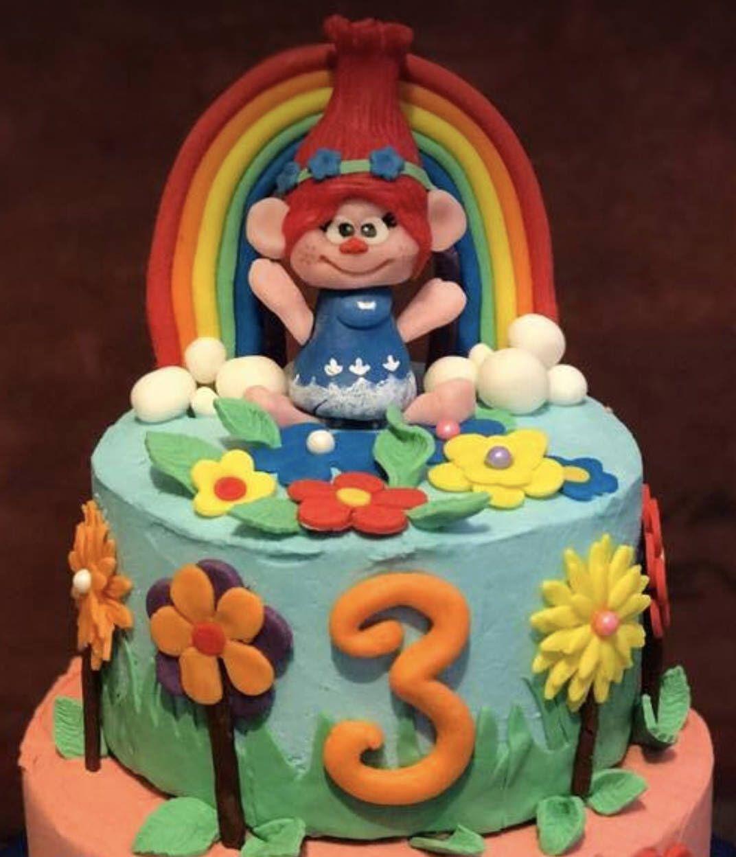 3d princess poppy cake topper princess poppy cake trolls