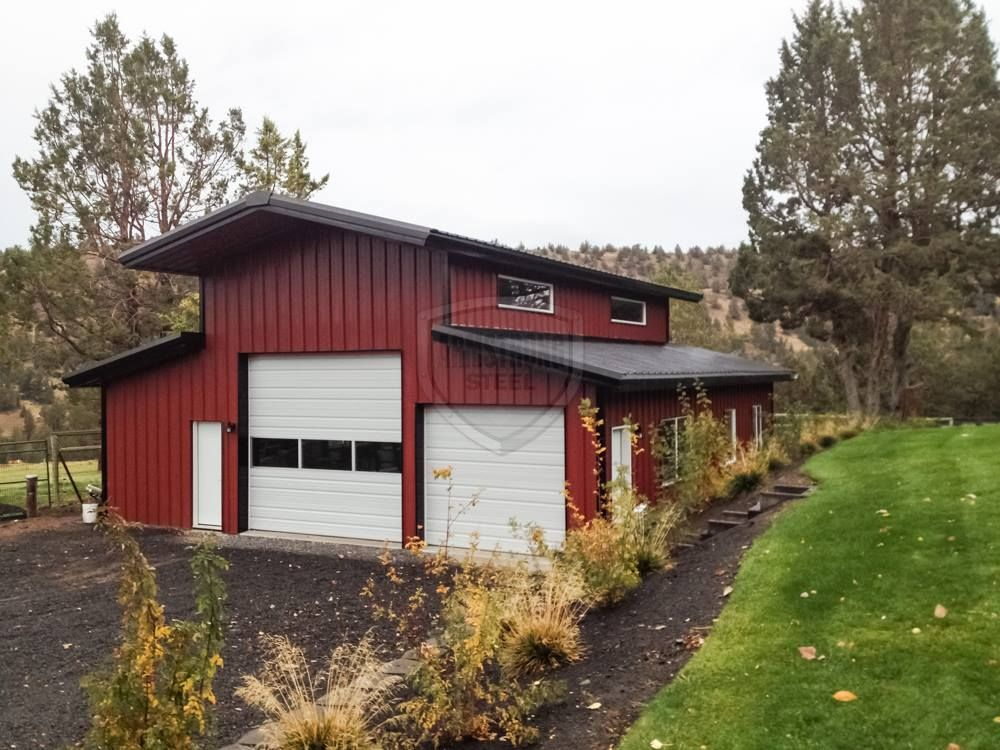 Beautiful red barn see more photos at for Beautiful metal building homes