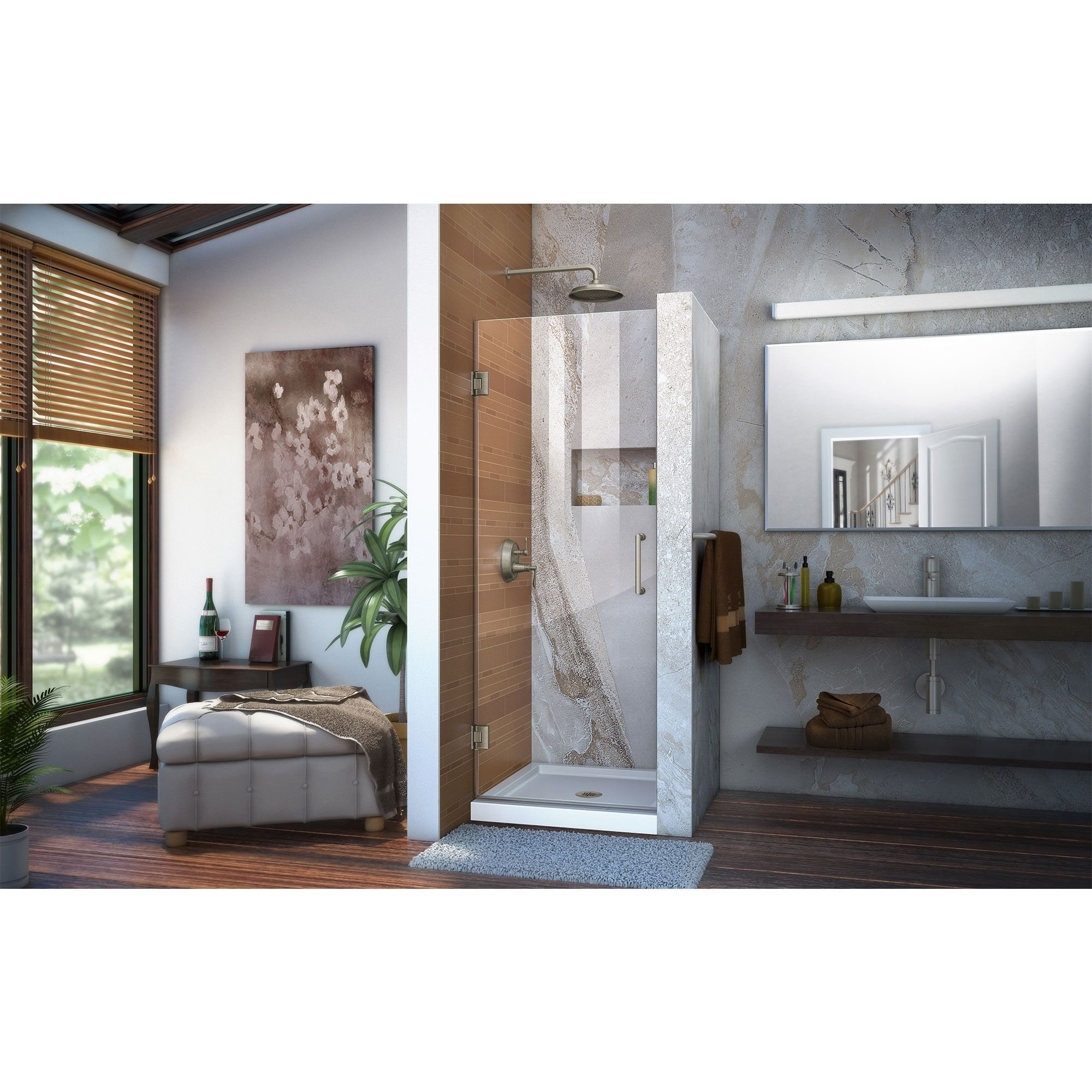 Dreamline Unidoor 23 In W X 72 In H Frameless Hinged Shower Door Clear Glass Chrome Finish Grey Shower Doors Frameless Shower Doors Frameless Shower