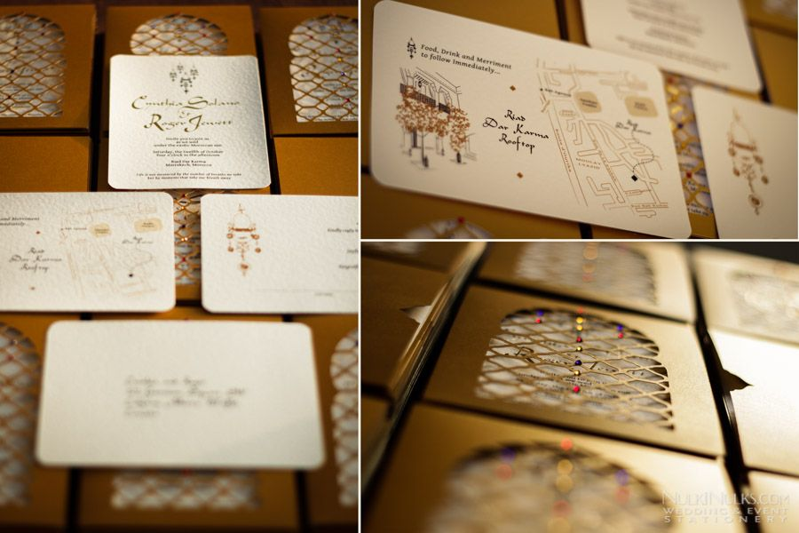 Moroccan Wedding Invitations And Save The Date Cards Stationery By Nulkinulks