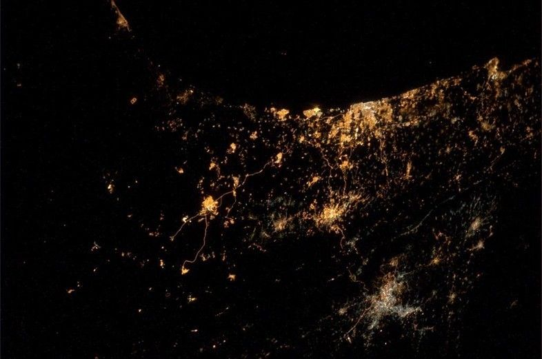This week, an astronaut tweeted his 'saddest ever photo' Israel Gaza conflict from space