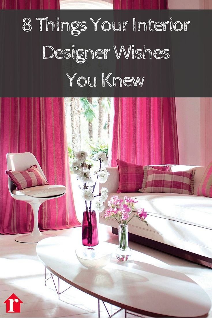 8 Things Your Interior Designer Wishes You Knew Pink Living Room