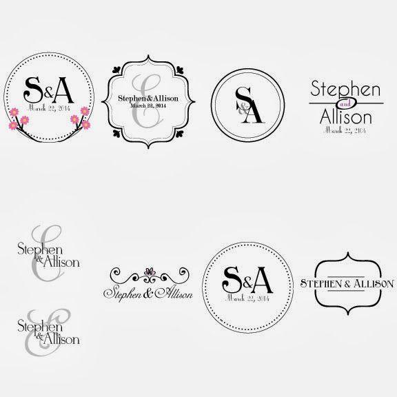 Wedding Logos Logo Pinterest Wedding logos Logos and Weddings