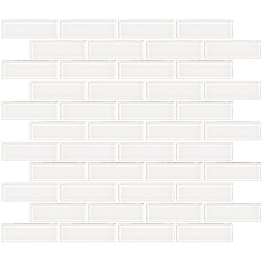 1 X 3 Gl Subway Tile In Super White