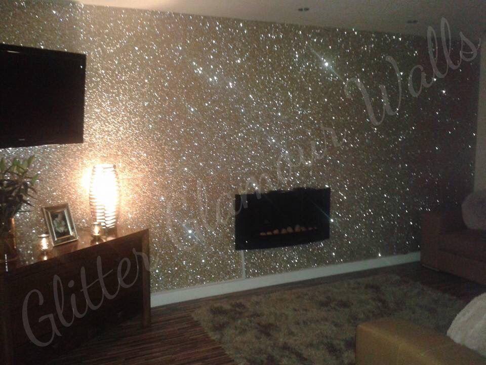 Champagne Gold Glitter Wallcovering Glitterwalls Glitter Room