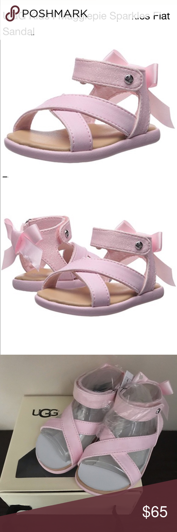 ce358b295de UGG Maggiepie Sparkles Pink Sandals Adorable pink strappy girls ...