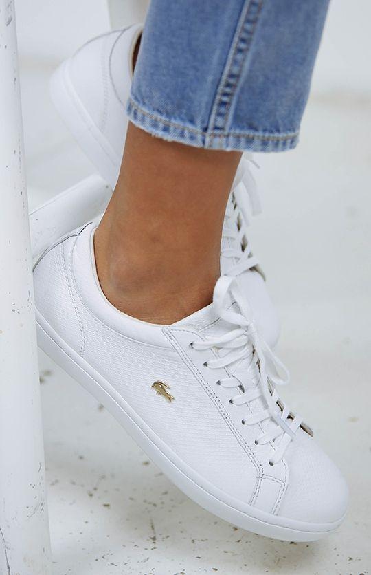 Amazon: Lacoste women  White Leather Tennis ShoesWhite
