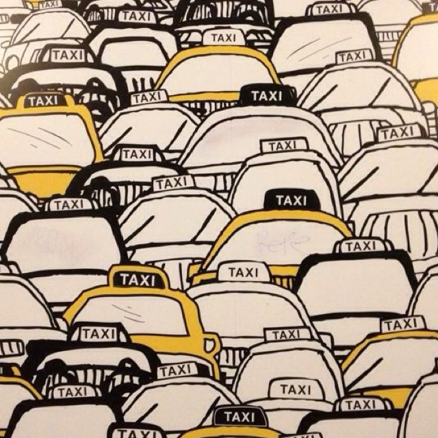 I Love Taxis And Art Is No Exception Nyclove Estampas