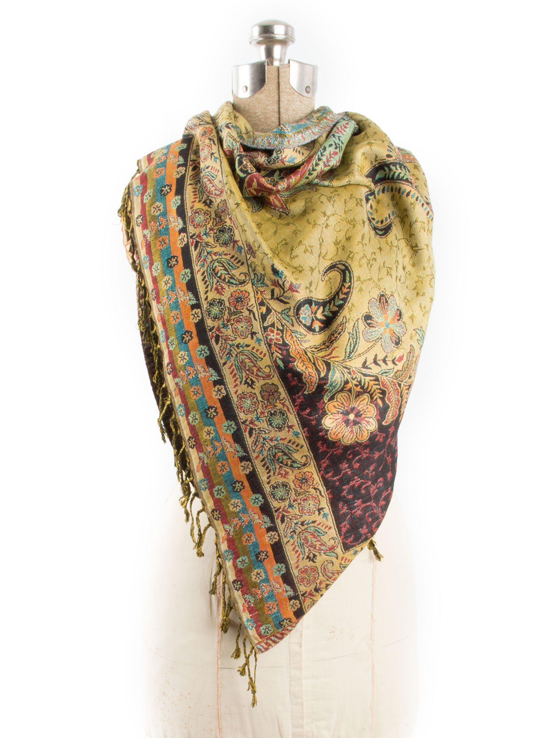 402f81ac2 Bohomonde, Hana Reversible Cashmere Silk Pashmina Scarf, hand made in India