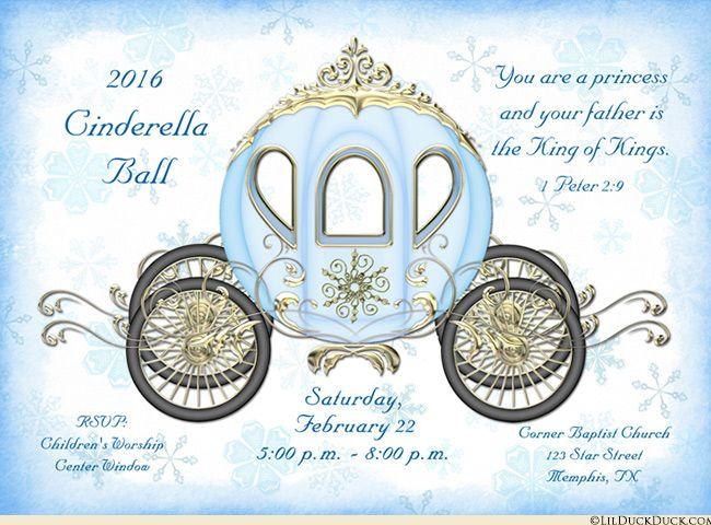 Snowflake Winter Fairytale Invitation Royal Event Crown