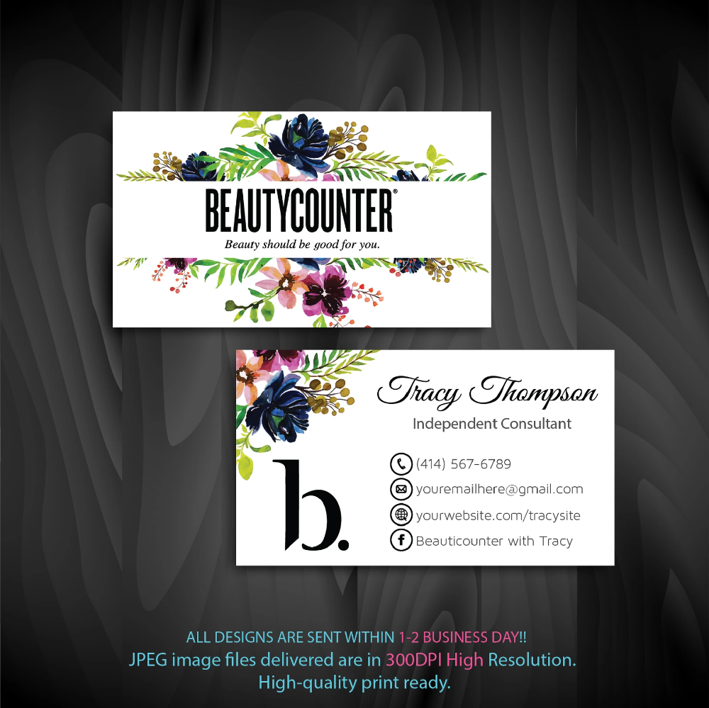Beautycounter Business Cards Personalized Beautycounter Cards Bc04 In 2020 Beautycounter Business Beautycounter Printable Business Cards