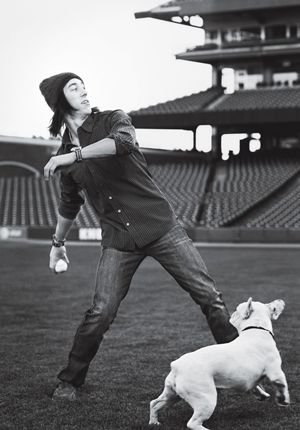 """Tim Lincecum and his Dawg """"CY""""....fitting right?"""