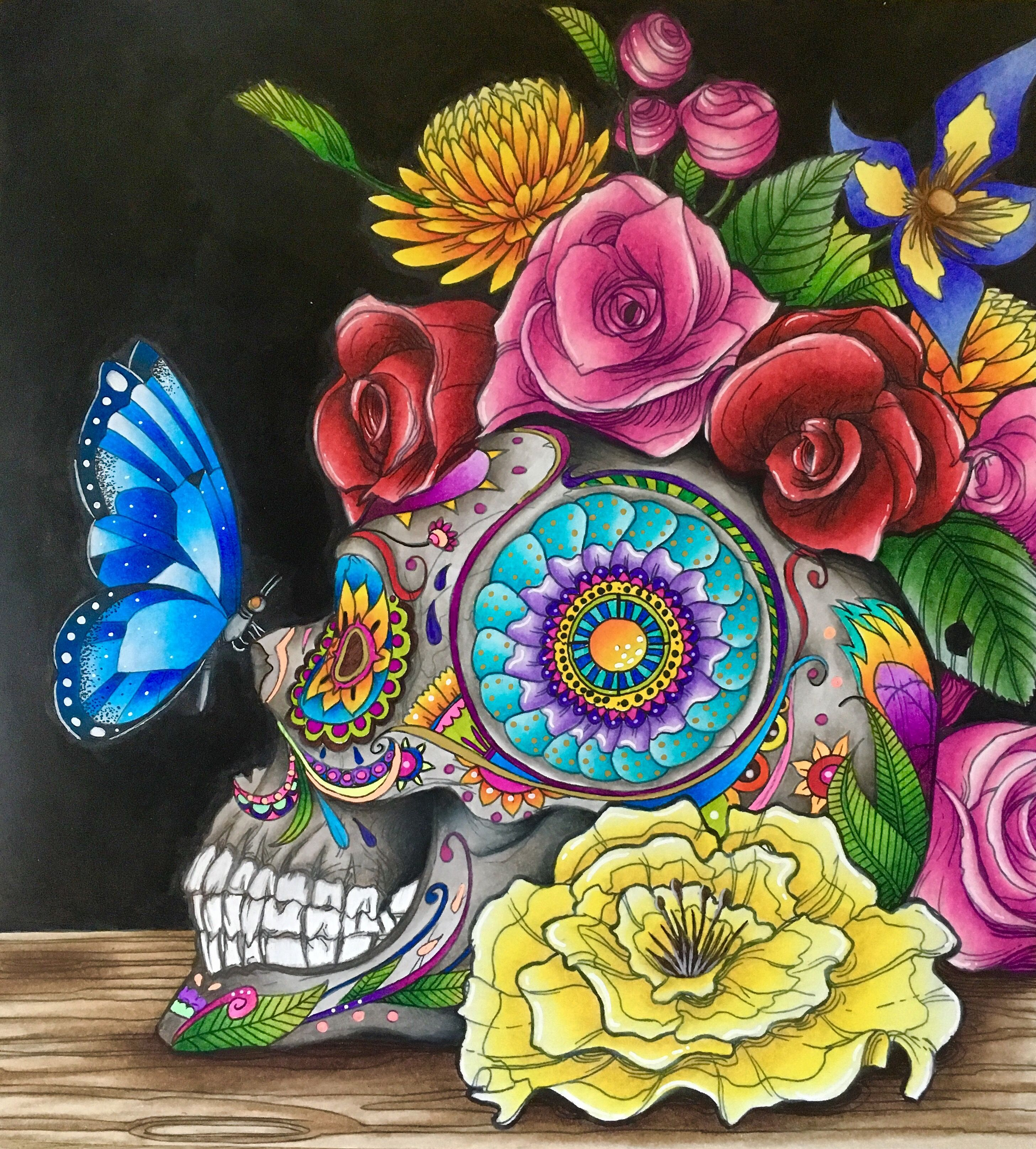 - Day Of The Dead Coloring Book. Mauro Mazzara Coloring Books