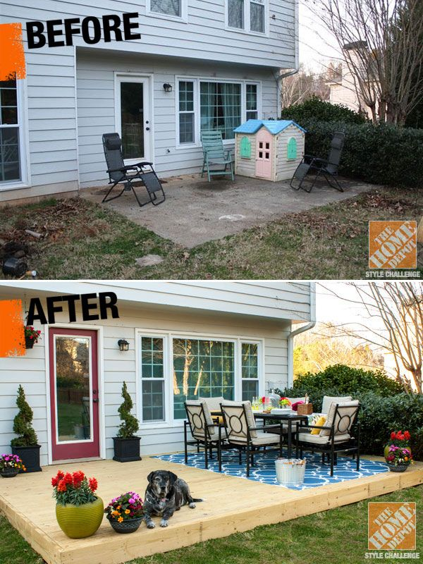 Small patio decorating ideas by kelly of view along the for Garden makeover ideas