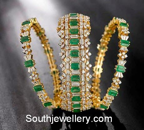 emerald bangles set