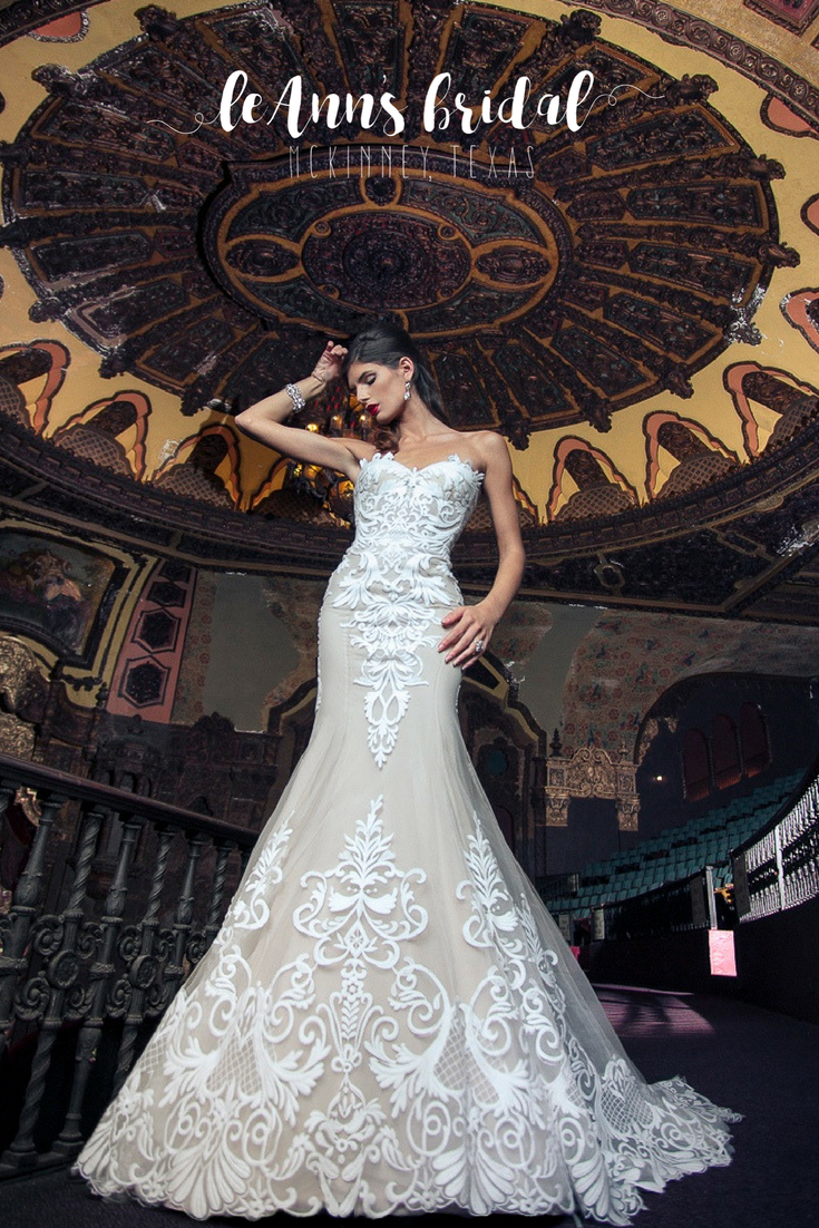 Yumi Katsura Edyta A Stunning Strapless Fit And Flare Gown Features Sweetheart Neckline Is Made Of Luxurious Custom Embroidery: Expensive Wedding Dresses Online At Websimilar.org