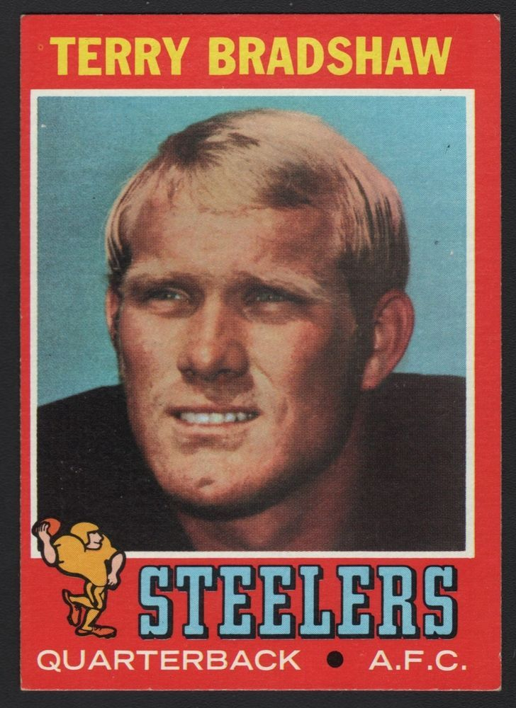 1971 topps 156 terry bradshaw pittsburgh steelers rookie