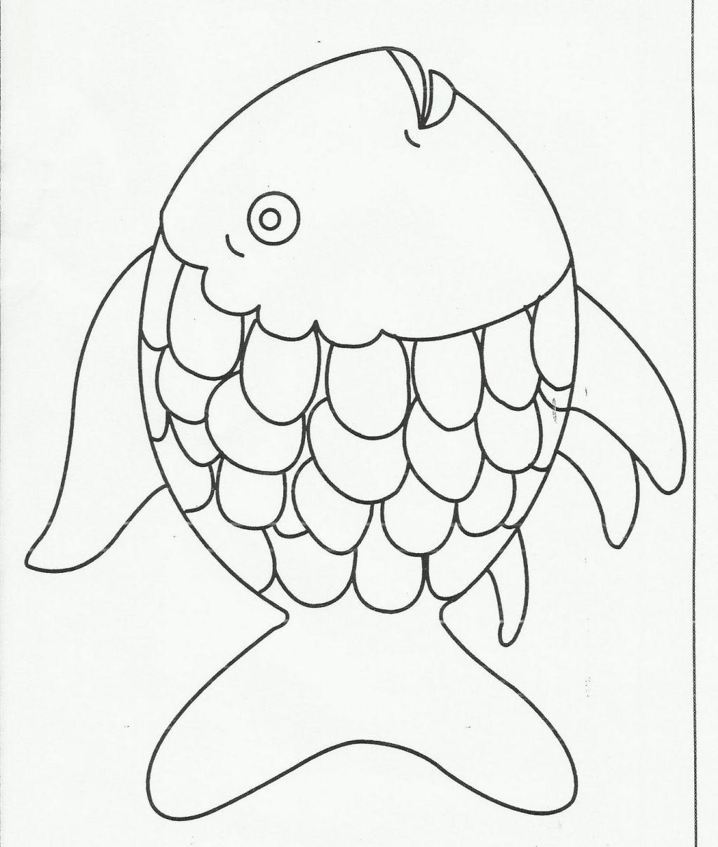 Rainbow Fish Coloring Sheet Coloring Pages Rainbow Fish Coloring Page Rainbow Fish Template Rainbow Fish