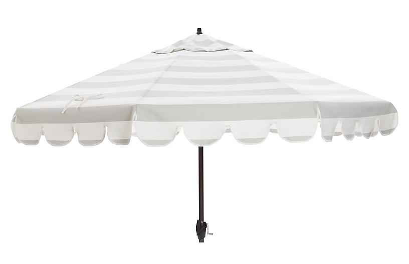 Phoebe Scallop Edge Patio Umbrella