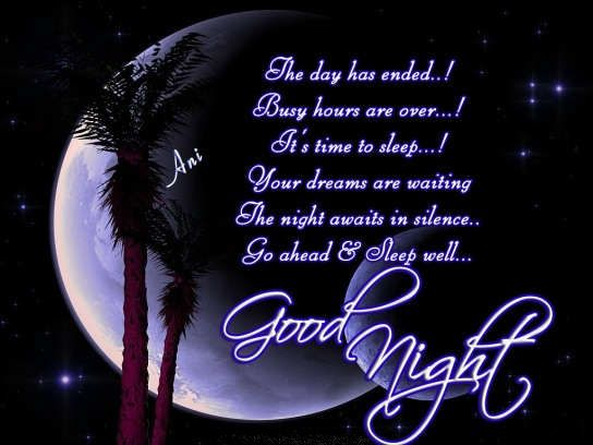 Good Night Sweet Dreams Greeting Images Free Download New 2013 Good Night Poems Good Night Messages Sleep Better Quotes