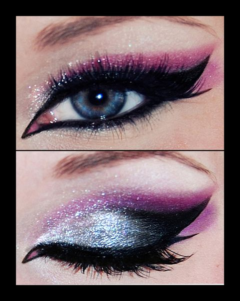 I wish I could wing my eyeliner out like that evenly on both sides! Mine is always lopsided.