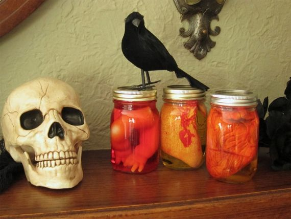halloween jar of doll parts - Google Search Holidays Pinterest - halloween jar ideas