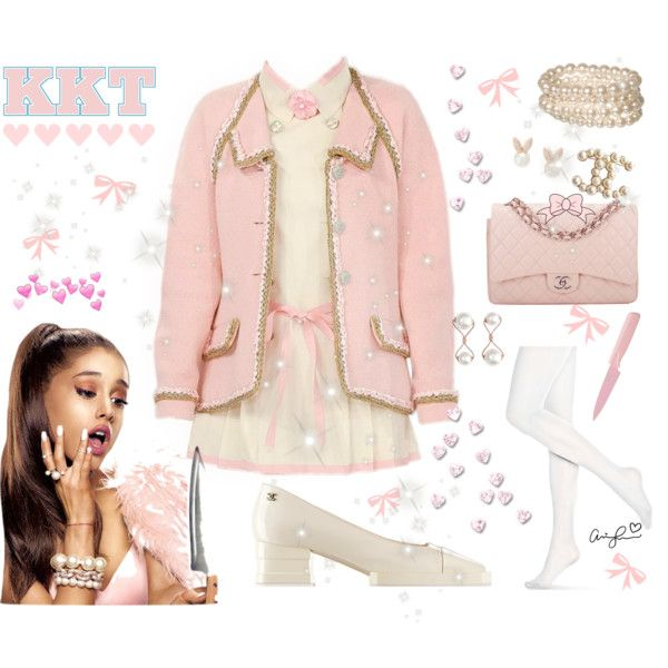 ♡ Get The Look: Scream Queens Chanel #2 ♡ by kaylalovesowls on Polyvore featuring Hue, Chanel, Lipsy, Chloe + Isabel and Kuhn Rikon