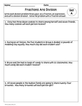 Dividing Fractions Word Problems Fraction Word Problems