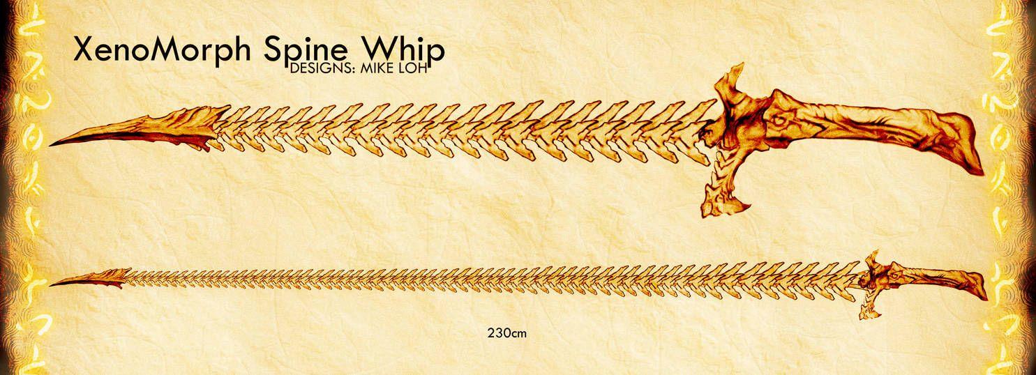 XenoSpine Whip by Uratz-Studios | skeleten in 2019 | Fantasy